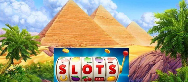Casino slot machines with pyramids