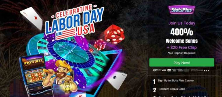 Slots Plus Labour day Bonus Code